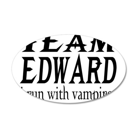 Team Edward 22x14 Oval Wall Peel