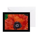 Red Oriental Poppy Greeting Cards (Pk of 10)