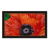 Red Oriental Poppy Decal