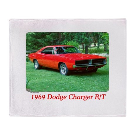 69 Red Charger Photo Throw Blanket