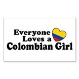 Everyone Loves a Colombian Girl Sticker (Rectangle