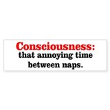 Annoying Consciousness Bumper Sticker