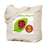 Lucky Bug 3rd Birthday Tote Bag