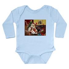 Santa's Cavalier (BL) Long Sleeve Infant Bodysuit