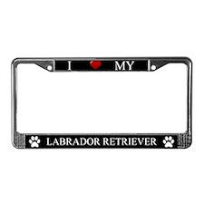 Black I Love My Labrador Retriever Frame
