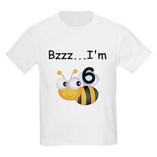 Buzz Bee 6th Birthday T-Shirt