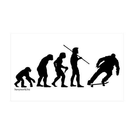 Skateboard Evolution 38.5 x 24.5 Wall Peel