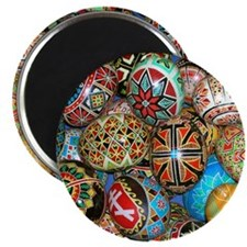"Pysanky Group 2 2.25"" Magnet (10 pack)"