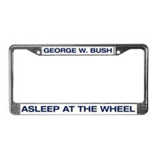 Bush Asleep at the Wheel License Plate Frame