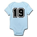 Varsity Uniform Number 19 Infant Creeper
