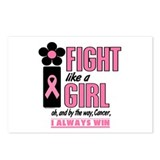 Fight Like A Girl 1.2 Breast Cancer Postcards (Pac