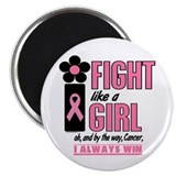 Fight Like A Girl 1.2 Breast Cancer 2.25&quot; Magnet (