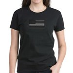 USA American Flag Gray Camo Women's Dark T-Shirt