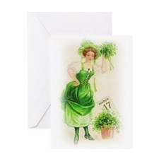 St, Paddy's Day Girl Greeting Card