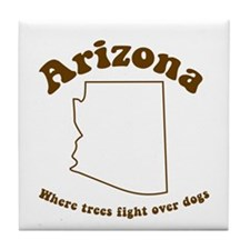 Vintage Arizona Tile Coaster
