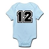 Varsity Uniform Number 12 Infant Creeper