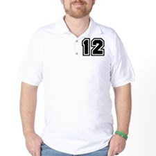 Varsity Uniform Number 12 T-Shirt