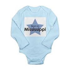 Cute Mississippi state Long Sleeve Infant Bodysuit