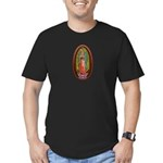 6 Lady of Guadalupe Men's Fitted T-Shirt (dark)
