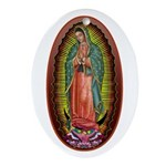 6 Lady of Guadalupe Ornament (Oval)