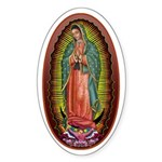 6 Lady of Guadalupe Sticker (Oval 50 pk)