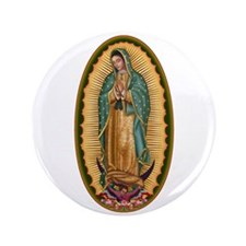 "12 Lady of Guadalupe 3.5"" Button (100 pack)"