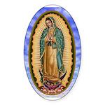 La Guadalupana Sticker (Oval)