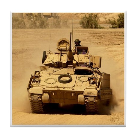 M2A2 Bradley Fighting Vehicle Tile Coaster