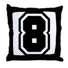 Varsity Uniform Number 8 Throw Pillow