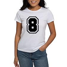 Varsity Uniform Number 8 Tee