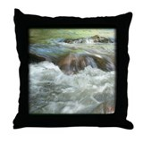 Mountain Stream Throw Pillow