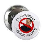 Pennsylvania Against Romney campaign button
