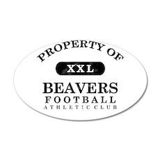 Property of Beavers 22x14 Oval Wall Peel