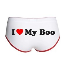 I Love My Boo Women's Boy Brief