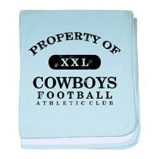 Property of Cowboys baby blanket