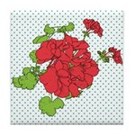 Dots a Geranium Tile Coaster