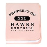 Property of Hawks baby blanket
