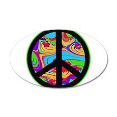 Peace Sign 38.5 x 24.5 Oval Wall Peel