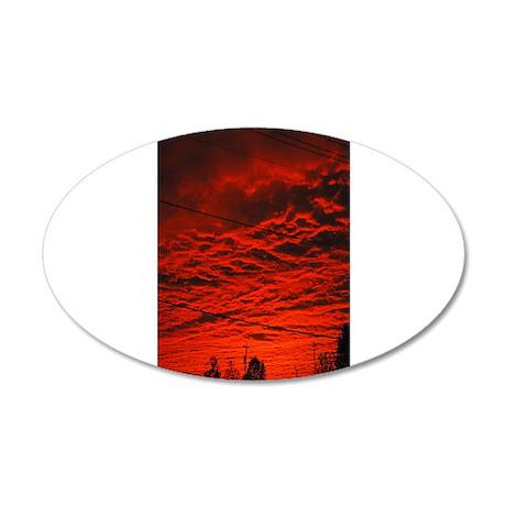 Delta Fiery Sunrise 38.5 x 24.5 Oval Wall Peel