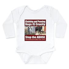Chaining IS Cruelty Long Sleeve Infant Bodysuit