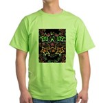 Psychedelic Stars Fractal Green T-Shirt