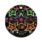 Psychedelic Stars Fractal Ornament (Round)