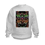 Psychedelic Stars Fractal Kids Sweatshirt
