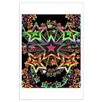 Psychedelic Stars Fractal Large Poster