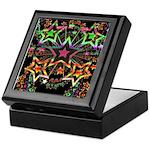 Psychedelic Stars Fractal Keepsake Box
