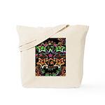 Psychedelic Stars Fractal Tote Bag