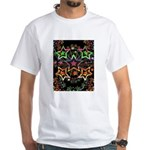 Psychedelic Stars Fractal White T-Shirt