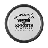 Property of Knights Large Wall Clock