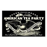 Classic American Tea Party Rectangle Decal