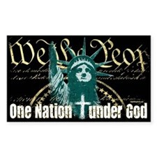 One Nation Under God Rectangle Decal